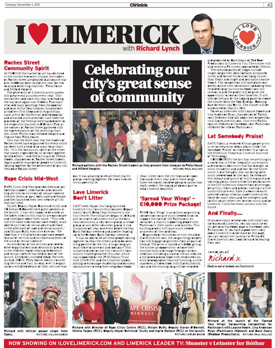 Limerick Chronicle Column - November 1, 2011
