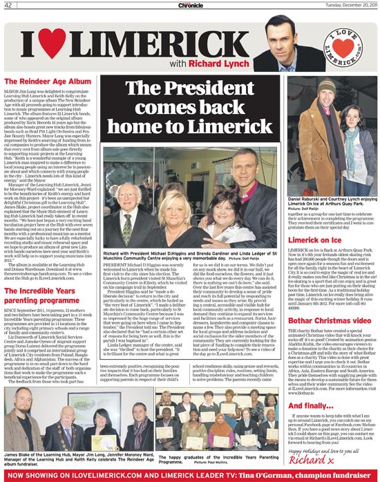 Limerick Chronicle Column - December 20, 2011