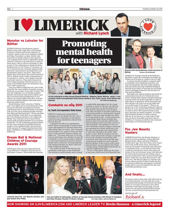 Limerick Chronicle Column 25 October 2011