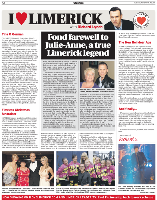 Limerick Chronicle Column - November 29, 2011