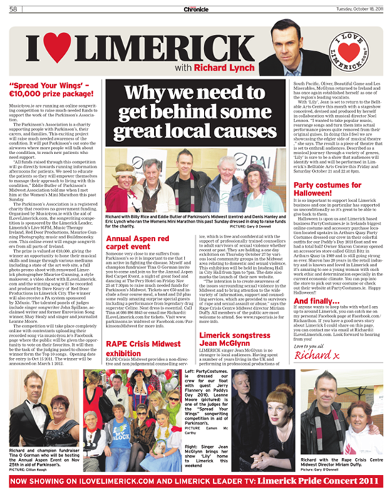 Limerick Chronicle Column - October 18, 2011