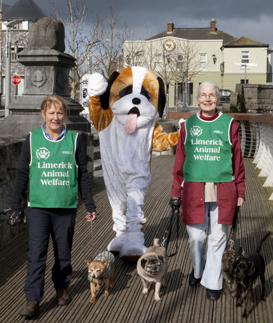 Geraldine Gunning and Josephine Treacy of Limerick Animal Welfare who always carry bags when walking their dogs.