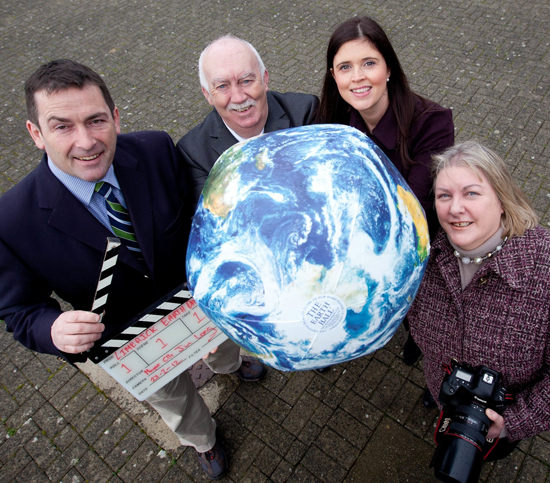 Paul Foley, Limerick City Council, Mayor Cllr Jim Long, Orla O Connor, Limerick.ie and Trish Forde Brennan, Limerick Earth Day Group getting ready for Earth Day 2012. Photo Sean Curtin Press 22
