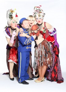Ugly Sisters Richard Lynch and Myles Breen with Richie Hayes as Buttons and Leanne Moore as Cinderella star in this year's UCH Panto, CINDERELLA with Twink & Dustin