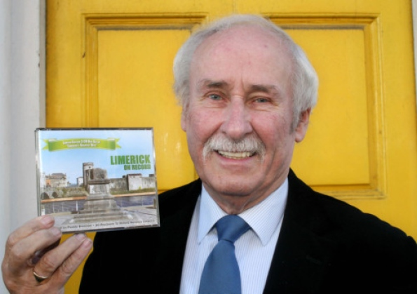 Paddy Brennan with the Limerick On Record CD, which he has compiled to raise funds for Milford Hospice