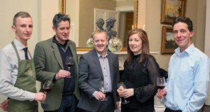 The Launch of the new wine portfolio at No1 Pery Square Hotel & Spa Limerick. Juan Wisneiski, sommelier Brasserie Resteraunt and No1 Pery Square Hotel & Spa, Simon Tynell of the Rhone Valley, France, Peter McCabe, Searsons Wine Merchants, Patrica Roberts, proprietor No1 Pery Square Hotel & Spa and Liam Cabot, Italian Specialist & Slovenian Producer. Picture: Keith Wiseman