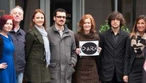 At the launch of Dine in the Dark Limerick - students Kadri Soerunurk & George Barry, Suzanne Slattery (ISPCC), Antonio Mureddu (Casa Nostra Restaurant), Marie Mitchel (LIT lecturer) and students Vincent Da Costa & Agnieszka Grabowska. Picture: Anna Hurkowska.