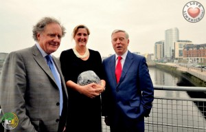 Lifetime Achievement Award winner Vincent Browne, Limerick Person of the Year Limerick Helen O Donnell and Chairman of Limerick City of Culture 2014 Pat Cox. Picture: David Woodland