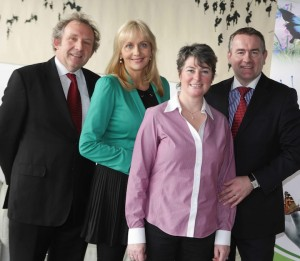 Cliona's Foundation Limerick - Pictured (l-r) was Richard Mulcahy, Cliona's Foundation Patron Miriam O'Callaghan, with Terry and Brendan Ring, co-founders of Cliona's Foundation. Picture Conor McCabe Photography.