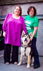 Limerick Lost & Found - Volunteer Mary Mc Inerney, friend and LAW supporter Gretta McCormack with Kobe who is a former LAW dog. Picture: Tarmo Tulit