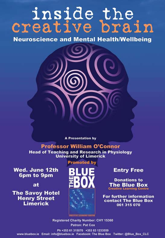 """Inside The Creative Brain"" – Free Talk in Limerick from Blue Box"