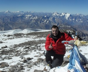 Limerick man Mark Quinn reached the summit of Mount Aconcagua in preparation for Everest.