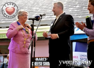 At the Gay Games Bid Event - Mayor Kathleen Leddin and Federation of Gay Games Site Inspection Team member David Killian and John James Hickey, Bid Coordinator Limerick 2018. Picture: Yvonne Fahy Photography