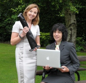 Maria Kelly CEO of the Limerick chamber with Dr Maria Hinfelaar of LIT with one of the Limerick Chamber regional awards for 2013