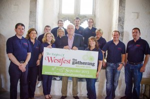 Westfest Team pictured with Donal Fitzgibbon from The Gathering at the launch