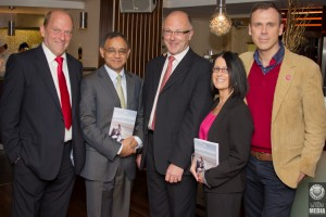Ger Loughnane, Professor Rajnish K. Gupta, author Kevin Haugh, Lisa Tracey and Richard Lynch. Picture; Damien Wilson/WiDu Media