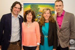 Richard with artist Hugh Mc Mahon, his mum Ailish Mc Mahon, Bernadette Kennedy, CEO of Blue Box. Picture: Damien Wilson