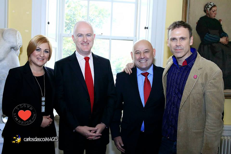 Justyna Cwojdzinska, a founder of the Festival, Hugh McGuire, Director of the Hunt Museum, previous Ambassador of the Republic of Poland Marcin Nawrot & Richard Lynch. Picture: Carlos Dasco