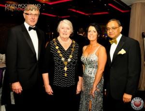 Kevin Haugh, Mayor Kathleen Leddin, Lisa Tracey and Professor Gupta. Picture David Woodland