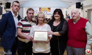 At the Chloe Kinsella Appreciation Day at St.Munchins Community Centre - Cllr. Maurice Quinlivan, Chloes uncle Matthew Franklin, Chloes mother Shirley Kinsella, Centre Manager Linda Ledger and Kieran O'Neill. Picture: Cian O Reilly