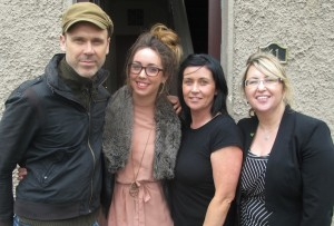 Richard Lynch and manager Tait House Tracey Lynch (right) pictured with Danielle and Catherine Kelly from Ballinacura Weston who had their home upgraded by the energy efficiency scheme. Picture: Damien Wilson