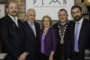 At the launch of PLAN - Karl Wallace, Minister Jimmy Deenihan, Jan O Sullivan, Tom Shortt and Jon Greenwood. Picture: Damien Wilson