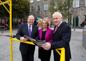 Unveiling: Michael Noonan, Jan O'Sullivan and Jimmy Deenihan launch the programme for Limerick's stint as national City of Culture 2014. Picture: Sean Curtin