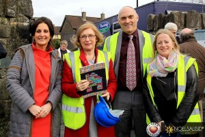 Úna Burns, Communications and Development Officer Novas , Jan O'Sullivan, Minister of State with Special Responsibility for Housing, Michael Goulding, CEO Novas, Anne Cronin, Head of Homeless Services Novas. Picture: Noel Salisid