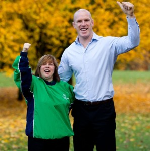 Paul O'Connell & Special Olympics athlete Christine Delaney