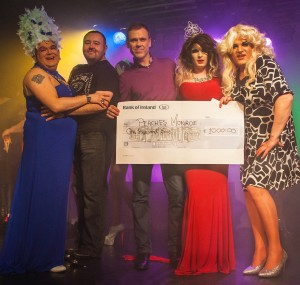 At last years event, Presenter Sheila Fitspatrick, Organiser Paddy Doyle, Judge Richard Lynch, Winner Lady Peaches Monroe and Presenter Madonna Lucia. This year the event takes place On Saturday Feb 15 in Dolans Warehouse. Picture: Dolf Patijn