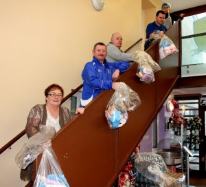 The staff and volunteers of St.Munchins Community Centre distributed food and supplies to those in need after the flood