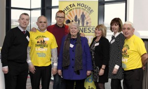 At the launch of Pieta House Darkness Into LIght 2014 - Richard Lynch with Barry Scanlon, Mayor Kathleen Leddin, Nora Conway, Manager Pieta House Limerick, Joan Freeman, CEO Pieta House and Johhny Togher. Picture Carlos Dasco