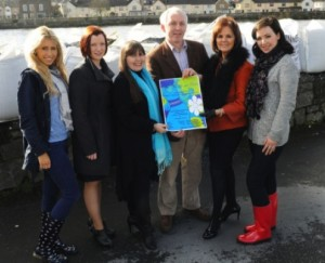 Orla Hickey, Mairead McMullin, organiser Mary Honan, Gerry Garvey, Hilary Thompson and Lisa Meehan at the launch of the Fashion With Heart. Picture: Gareth Williams
