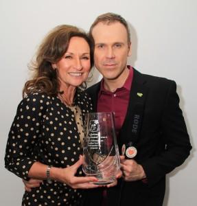 Richard Lynch with Celia Holman Lee, Limerick legend and Lifetime Achievement Award winner. Picture: Noel Salisid.
