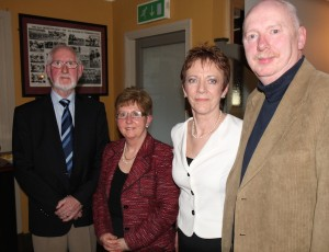 Sean Treacy, Chair, Deirdre Frawley, AEO 1985 - 1998; Mary Hamilton, AEO 1998 - 2014 & John Ryan, Vice Chair.