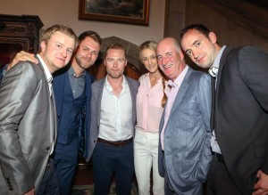 Rudi Butler, Brian mcFadden, Ronan Keating, Storm Uechtritz, Robert Butler and Conor Sexton at the Donal Walsh Livelife Celeb-AM Golf Classic in Adare Manor Hotel & Golf Resort. Picture: Keith Wiseman