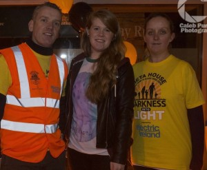 Pictured: Kieran O'Brien (Pieta House), Laura Goggins (I Love Limerick Correspondent) and Niamh O'Shea (Walker) at Pieta House Darkness Into Light Fundraising event. Photo by Caleb Purcell.