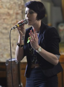 """Limerick Singer, Songwriter, Rapper Rachy P performs her new single """"Life's For Living."""" Photo by Caleb Purcell."""