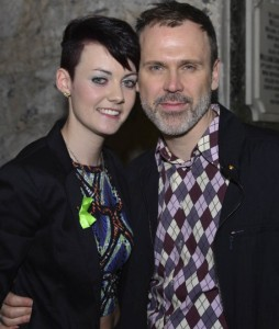 Pictured: Limerick Singer, Songwriter, Rapper Rachy P with Richard Lynch. Photo by Caleb Purcell.