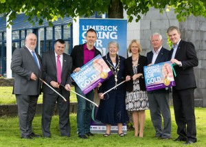 Roger Beck, The Parkway shopping Fergal Deegan, Limerick's Live 95FM, Richard Lynch, I Love Limerick, The Mayor Kathleen Leddin, Geraldine O'Regan, Limerick's Live 95FM, Gerry Boland and Alan English, Limerick Leader at Limerick City Hall today for the launch of the Limerick Going For Gold 2014. Picture: Sean Curtin Photography