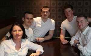 Cast & crew of Cattle Raid - Liza Bolton, Philip Coffey, David Nolan, Stuart Mackey, Brian O'Regan