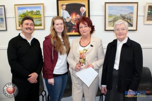 Picture: Paul Quane (Artist & Tutor), Laura Goggins ( I Love Limerick correspondent), Barbara Dillion (Co-Ordinator) and Sr. Geraldine Brown (Guest Speaker & Facilitator).