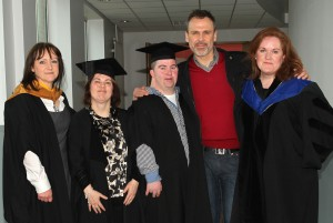 At the LIT Leadership and Advocacy Graduation  - Richard with Martina Neylon, Christine Delaney, Garry Laird and Jennifer Moran Stritch