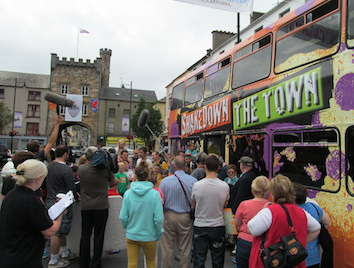 Shakedown The Town HQ bus arrives in Clonmel