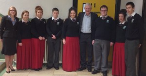 The Donal Walsh #LIVElife Foundation - Students from Gaelcholaiste Luimnigh, Fionnbar Walsh and Sinead Carey Deputy Principal.