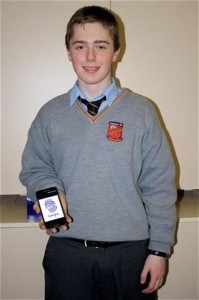 Eoin O'Brien, a student from Ardscoil Rís, who built the App for Swipe
