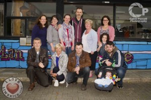 Richard with Back to front: Deirdre McMahon, Lizzy O'Connell, Aisling Finucane, Kathy McAndrew Wallace, Leonie Kerins with Tess Duclott, Bill Kelly, Jan Pattinson, Pat O'Sullivan, Jason and Seán Griffin. Picture: Caleb purcell