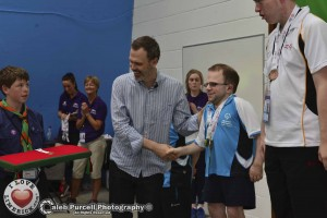 Richard was honoured to be asked to present medals to the athletes. Picture: Caleb Purcell