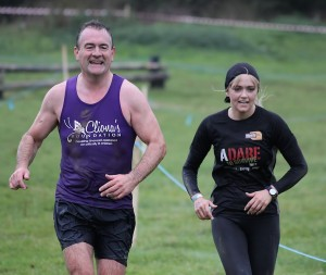 Brendan Ring and Leanne Moore braving the elements of Adare to Survive 2013. Picture: Carlos Dasco