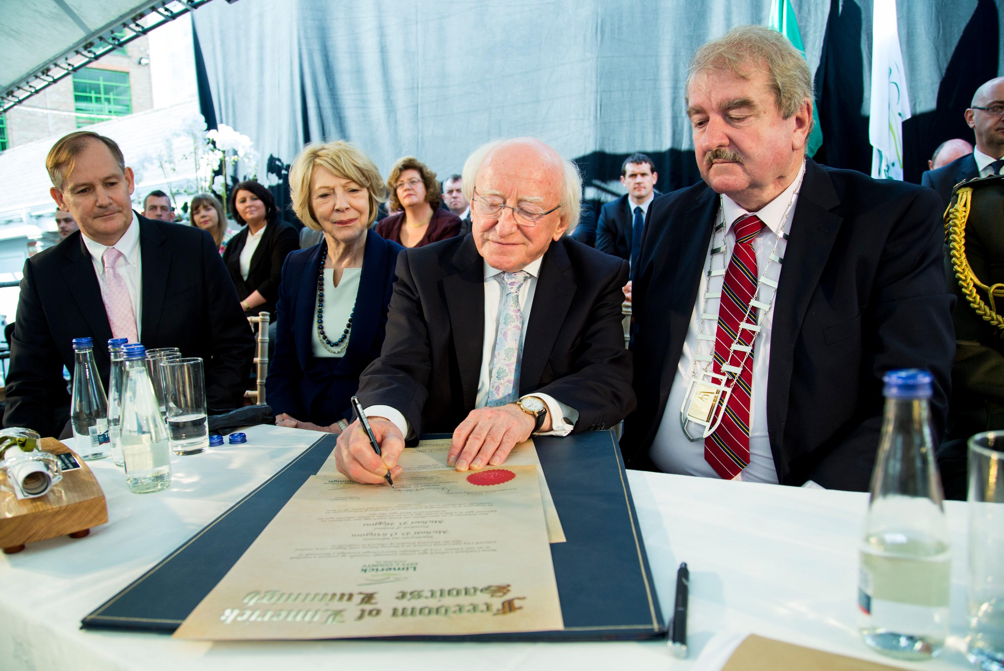 President Michael D Higgins Freedom of Limerick album 2